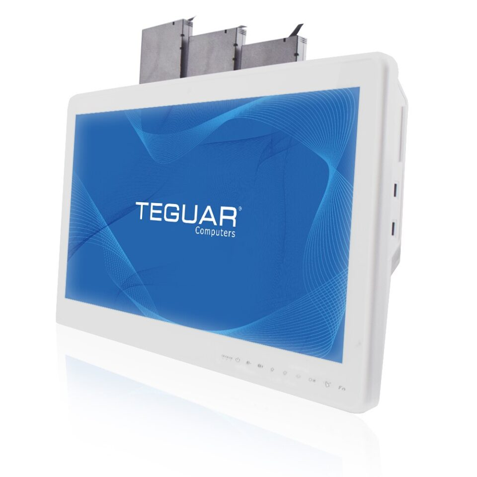 Teguar TM-5510-22 medical cart computer w/ hot swappable batteries