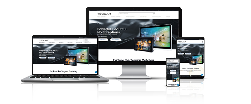 Teguar new website shown on multiple devices