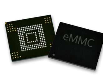 eMMC front side and backside of chip