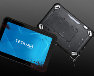 Teguar Rugged Tablet with mud and water splash