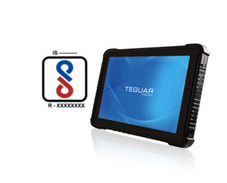 Teguar Rugged Tablet and BIS Logo