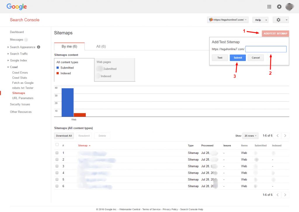 submit sitemap.xml webmaster tools google