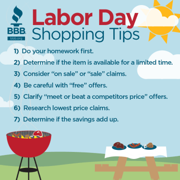 Labor Day Shopping Tips, 2015