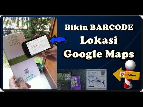 cara membuat barcode lokasi aplikasi google map di androida