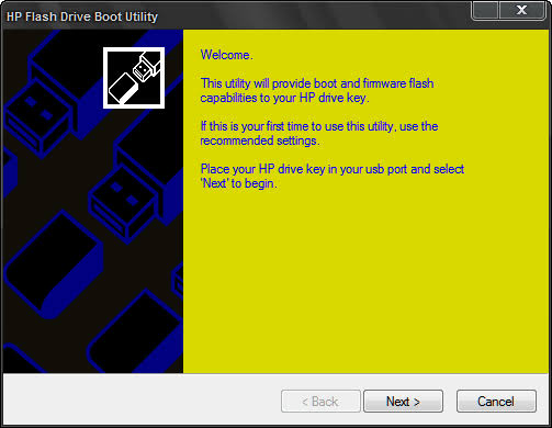 format flashdisk online Hp Drive boot utility