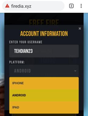username dan platform