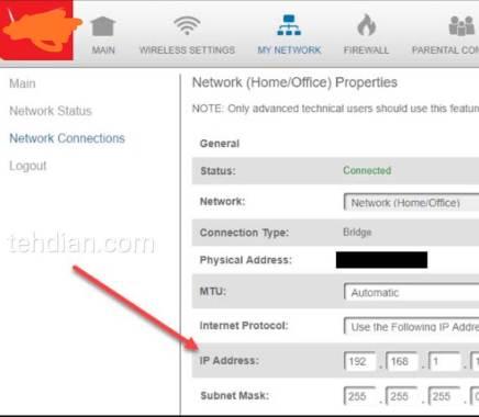 Alamat ip adress router