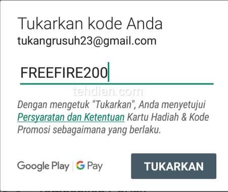 Kode pembayaran telcel free fire