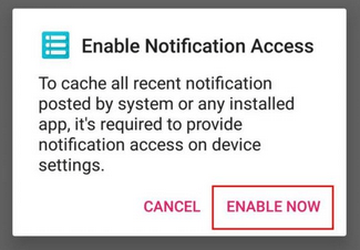 enable now recent notification