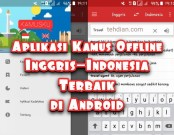 Aplikasi kamus bahasa inggris offline