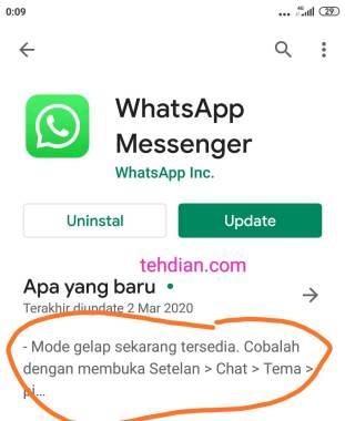 Memperbarui versi whatsapp