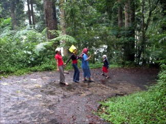 "the road to ""situ gunung"" lake in Sukabumi West Java"