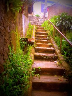 Steps to the river in my hometown Sukabumi West Java