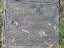 Manhole cover by Harvey (Fire station, Old County Hall, Truro).