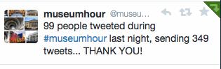#museumhour tweets
