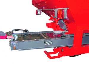 Съемный ленточный транспортер, приводимый в движение цепным механизмом