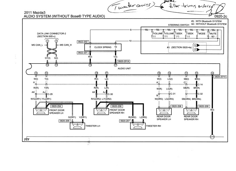 MAZDA Car Radio Stereo Audio Wiring Diagram Autoradio