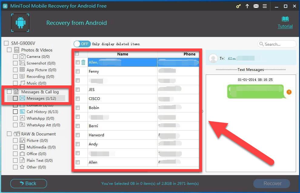 MiniTool Mobile Recovery Meddelelser