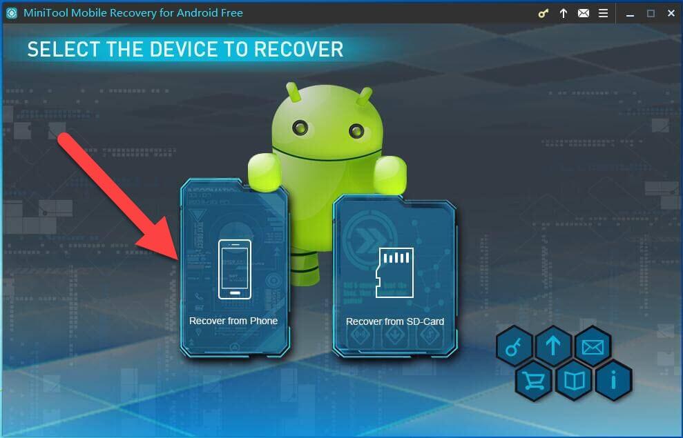 Minitool Mobile қалпына келтіру Телефоннан қалпына келтіру