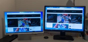 Resen monitor (desno) ima seveda boljšo sliko kot ta televizor, kadar nanj priključimo računalnik.