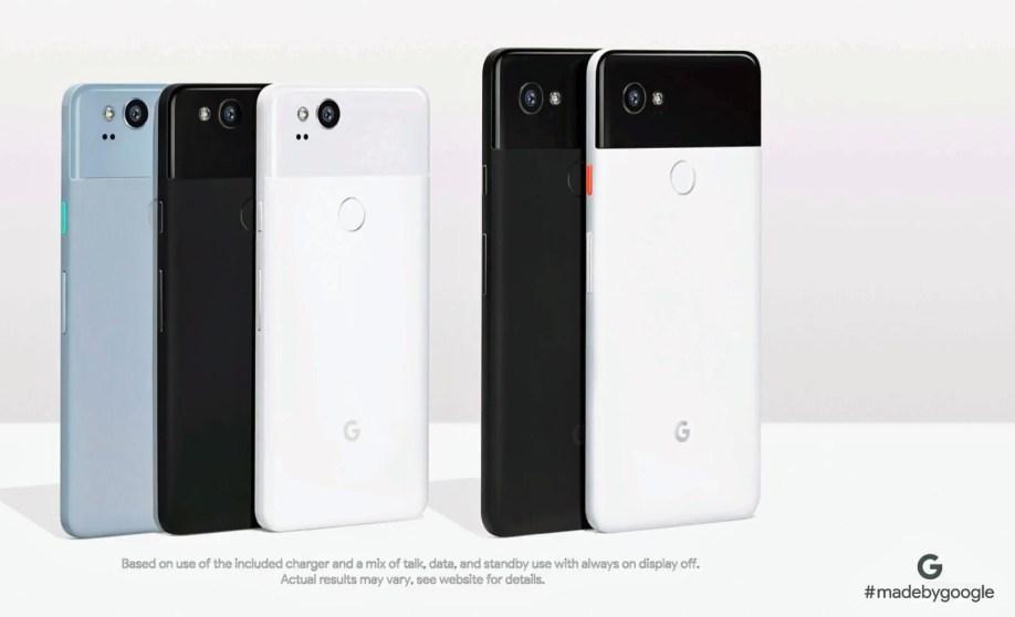 Vsi telefoni Pixel 2.