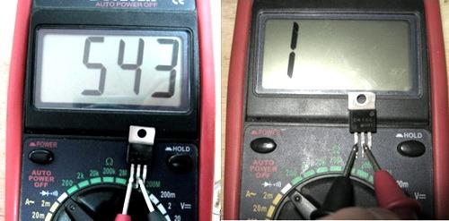 Multimetr proverka tranzistorov 2