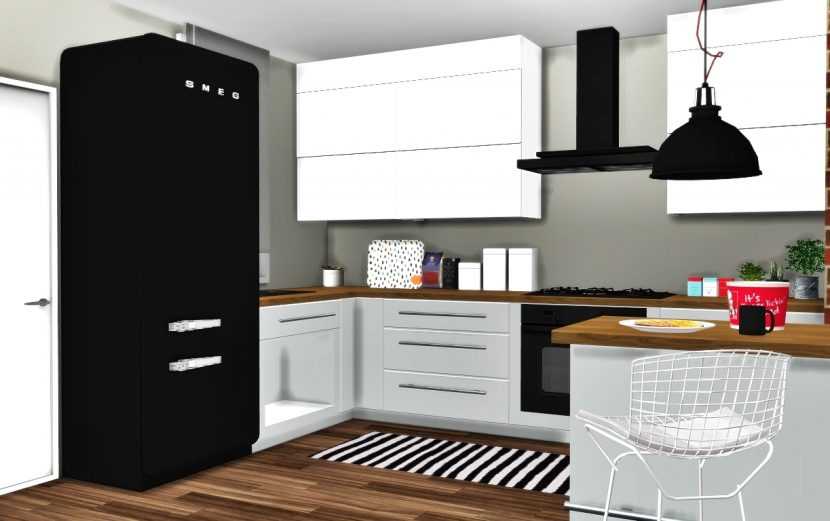 bedroom desk chair ikea folding bed bath and beyond kitchen basic conversion (updated) by mxims - teh sims