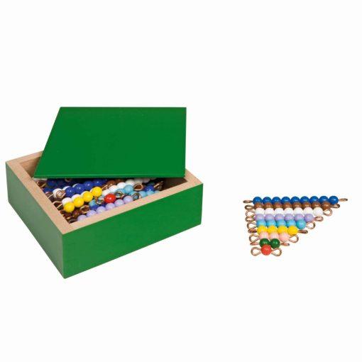 Colored bead stairs: nylon - Nienhuis Montessori