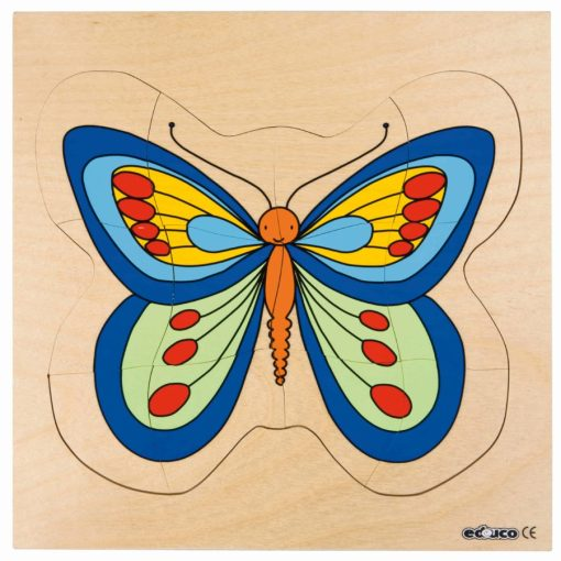 Growth/Life cycle puzzle butterfly - Educo