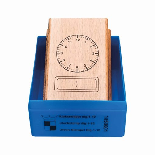 Clock stamp analogue-digital 12 hours - Jegro