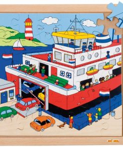 Transport puzzle - ferry - Educo