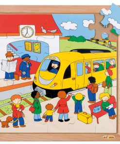 Transport puzzle - train station - Educo