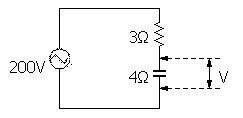 電工2種の計算問題用の交流回路図。