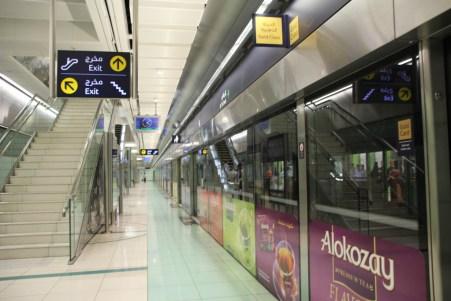 Bahnsteig Metro Dubai