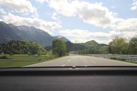 Auf dem Weg nach Schloss Elmau