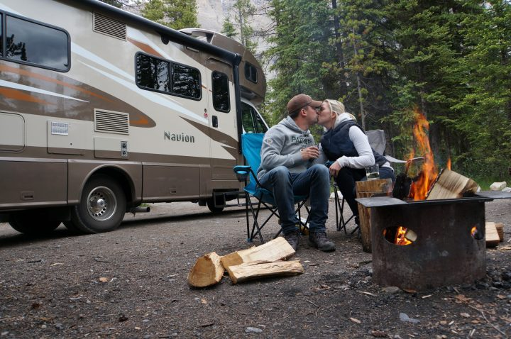 Camping in Canada - a typical campsite