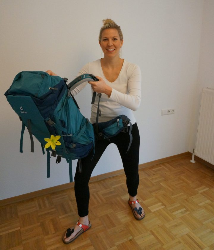 Backpack richtig aufsetzen, Lendenwirbel schonen