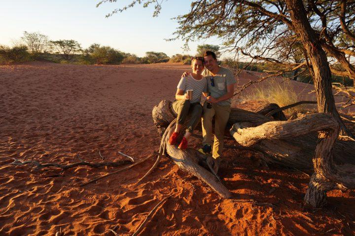 Sundownder in der Kalahari