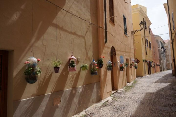 Blumengasse in Alghero