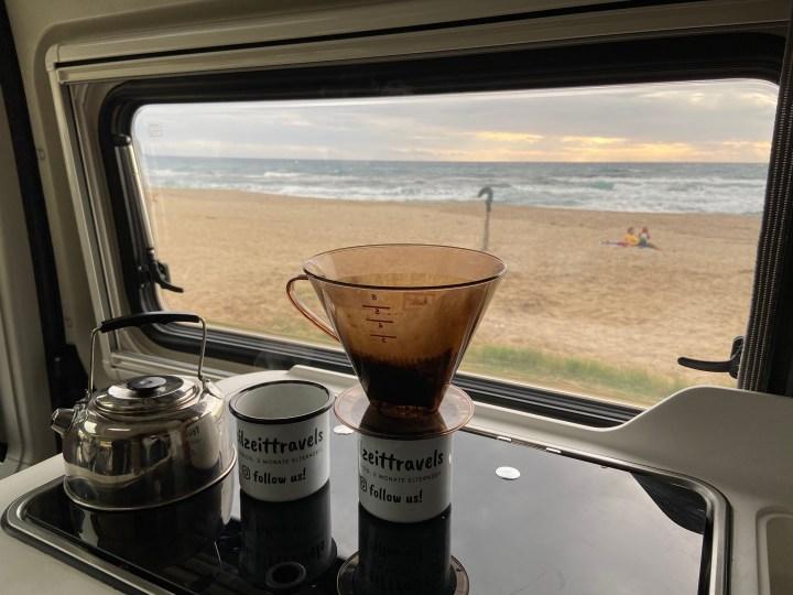 Kaffee Camping
