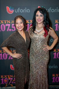 Jessie Marie Delgado & Natajja Gomez at 2015 Tejano Music Awards Purple Carpet (Photo by Ryan Bazan / Tejano Nation)