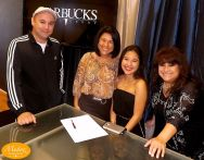 Warbucks Music Group president Rand Saenz, Maria Perales, Jessie Marie and Yoli Romeo