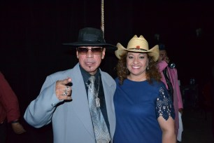 Los Garcia Bros' Sammy Garcia with Tejano Nation's DJ Peaches