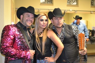 From left to right: Michael Salgado, Tejano Nation's Fanny Gurl and Ernie Salgado