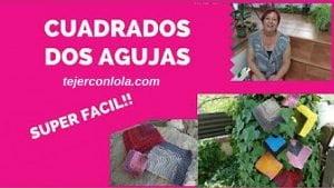 CUADRADO TEJIDO CON AGUJAS CIRCULARES