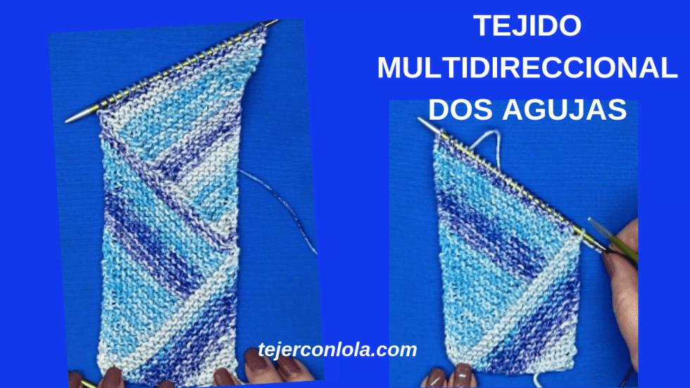 tejido multidireccional a dos agujas