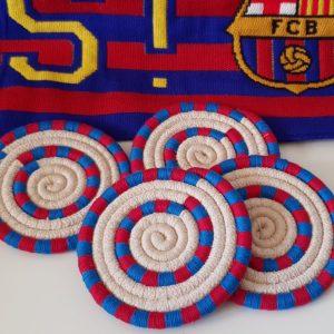 Set de 4 posavasos del Barça