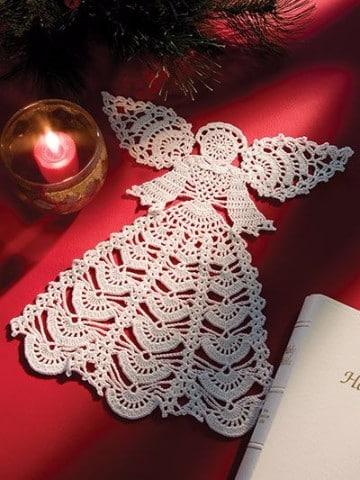 Imagenes de angeles tejidos a crochet para adornar