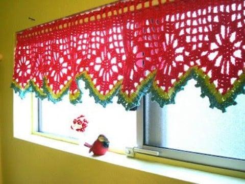 Modelos de cortinas tejidas al crochet faciles de tejer