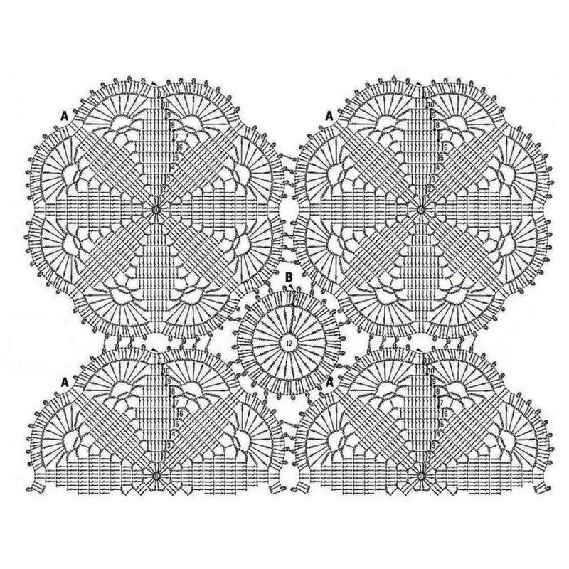 Blusa crochet novedoso estilo con motivo2